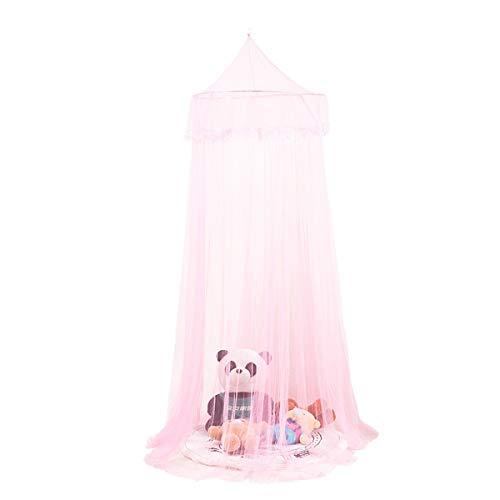 Insect Mosquito Bed Kant Net Hideaway Tent Luifels voor Meisjes, Kinderkamers, Bedden of Ledikanten Eén maat roze