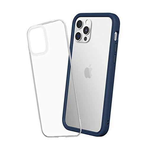 RhinoShield Modulares Case kompatibel mit [iPhone 12/12 Pro] | Mod NX - Schockabsorbierende Dünne Schutzhülle 3.5 Meter Fallschutz - Marineblau