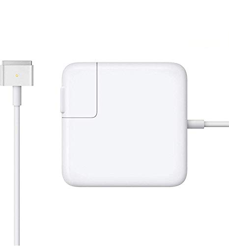 Mac Book Air Charger, Great Replacement 45W Magsafe 2 Magnetic T-Tip Power Adapter Charger for MacBook Air 11-inch and 13-inch (Mid 2012 or Later) (White)
