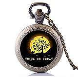 Disfraces de Halloween joyas steampunk truco o trato reloj de bolsillo collar vintage accesorios