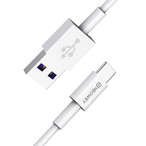 NEOWEY USB-C 1,2m 5A Kabel Schnellladekabel für Huawei P30/P20 Pro, Samsung Galaxy S10/S9/S8+, Note 10/9/8, HTC, Lumia, Tablet, Sony (1,2m)