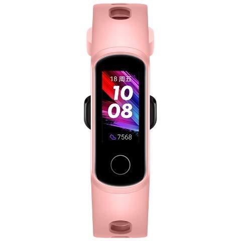 kemite Pulsera inteligente para Honor Band 5i de oxígeno en sangre, carga USB, control de música, monitoreo de deportes, fitness, pista de correr (rosa)