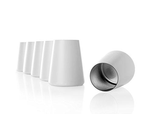 Stölzle Lausitz Becher Power, 380 ml, 6er Set in weiß (matt) und Silber, universell einsetzbar, für Wasser, Säfte, Wein, spülmaschinenfest, mit organischen Farben besprüht