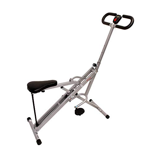 Product Image 9: Sunny Health & Fitness Squat Assist Row-N-Ride Trainer for Glutes Workout with Training Video