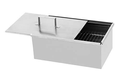 Grillpaul Mustang Räucherbox 40 x 25 x 16cm | Smokerbox | Räucherschrank | Edelstahl poliert | Finnland