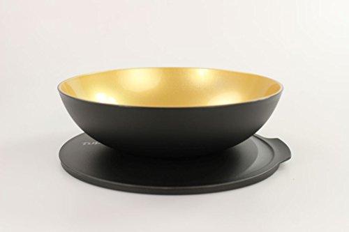 TUPPERWARE Allegra 3,5 L schwarz gold Schüssel Schale Servierschale Allegra-Gold