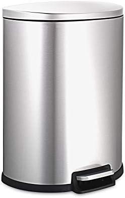NINESTARS AMZ SOT 50 3 Step on Trashcan 13 Gal STAINLESS STEEL product image