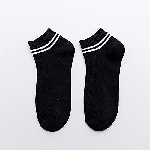 5/10 pares de calcetines de barcos para hombres deportes antideslizante invisible calcetines delgados ocio algodón transpirable adulto (Color : Type G, Size : 10 pairs)