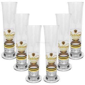 Radeberger Bierglas Glas Gläser-Set - 6x Biergläser 0,3l geeicht