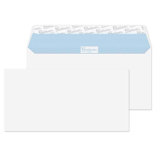 Premium Office DL - Paquete de sobres con cierre autoadhesivo (110 x 220 mm, 50 unidades), color blanco ⭐