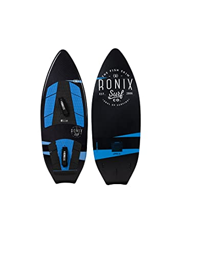 Ronix Modello Surf Edition Fish Skim Wakesurf Board w/Straps - Black/Blue - 4'9'