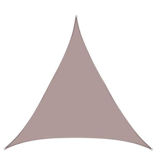 HTLLT Toldo Triangular De Velas para El Sol Cubierta De Toldo De Bloque UV Al 90% para Patio Al Aire Libre Césped Jardín 6 * 6 * 6 M,Cream