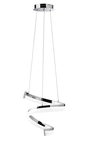 Preisvergleich Produktbild WOFI LED Pendelleuchte,  Metall,  Integriert,  27 W,  Chrom,  360 x 1500 x 360 cm