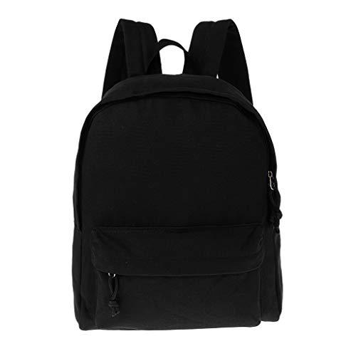 Colcolo Uni Canvas Mochila School College Bag Mochila de Viaje Bolsas Unisex - Negro, tal como se describe