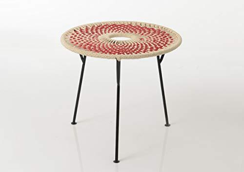 Amadeus - Table Basse Rouge Baya 50cm