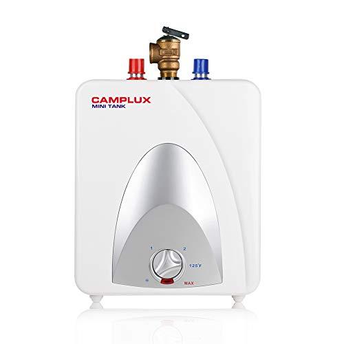 Camplux ME10 - Mini calentador de agua eléctrico de 1,3 galones punto de uso con enchufe de cable de 1,5 kW a 120 voltios