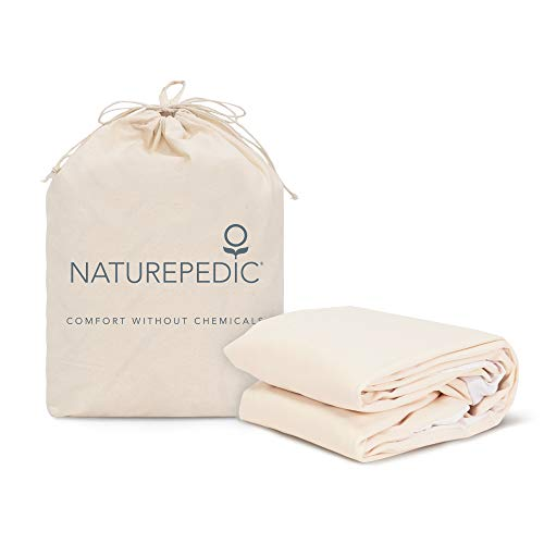 "Naturepedic Organic Waterproof Fitted Stretch Knit Protector Pad - Twin - 38""x 75"