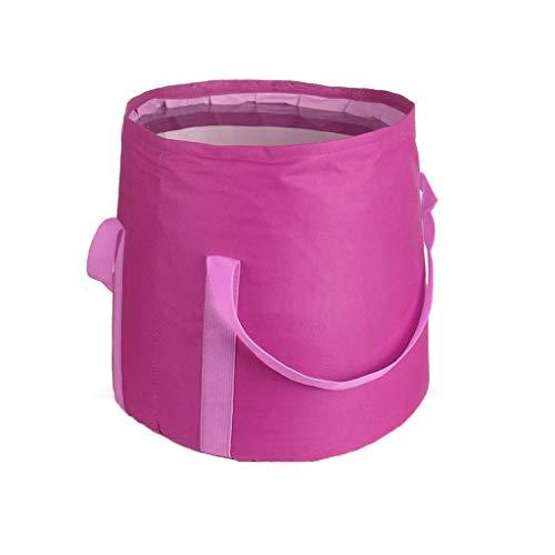 FH Seau portatif pliable de 25L, lavage extérieur de visage de lavage de voyage/grand seau résistant à la déchirure de pêche, sélection multicolore (Couleur : C)