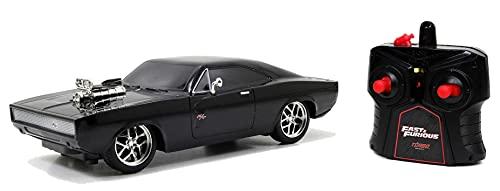 Jada - Fast & Furious - Voiture Radio Commandée - Dodge Charger - Echelle 1/16ème - Fonction Turbo - 253206004 Noir