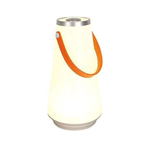 XJF Lámpara de mesa LED inalámbrica, portátil, inteligente, de color cálido, con cable de carga USB, adecuado para dormitorio, exterior, jardín, sala de estar