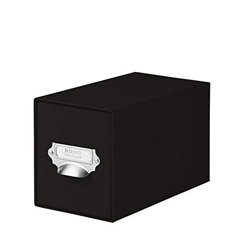 Rössler SOHO - Archivador para CD (compartimento metálico para etiqueta), color negro, 1 unidad