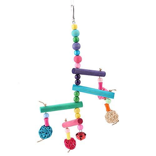 SZHWLKJ Parrot De Madera Colgando Juguete De Swing Adecuado para Loros Y Pájaros Medianos Y Pequeños
