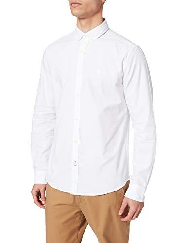 Springfield Camisa Pinpoint, Blanco, XS para Hombre