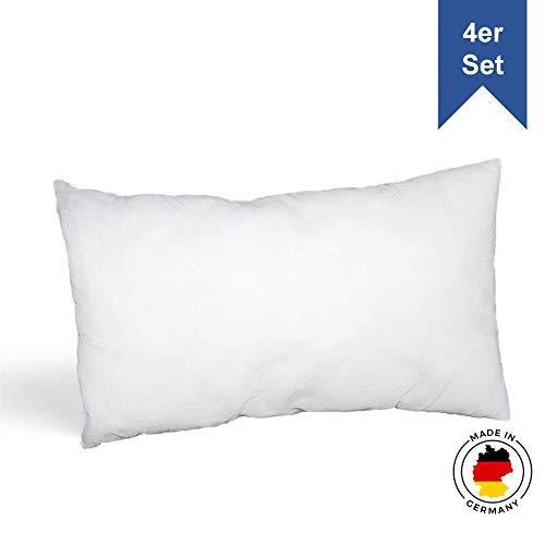 LILENO HOME 4er Set Kissenfüllung 30x50 cm - waschbares Innenkissen geeignet für Allergiker - Polyester Kisseninlet als Couchkissen, Sofa Kissen, Cocktailkissen und Kopfkissen
