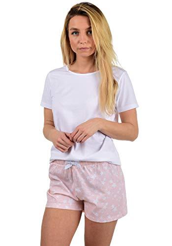 DESIRES Penelope Damen Schlafanzug Pyjama Nachtwäsche Kurz Zweiteilig, Größe:M, Farbe:Ballerina (4208)