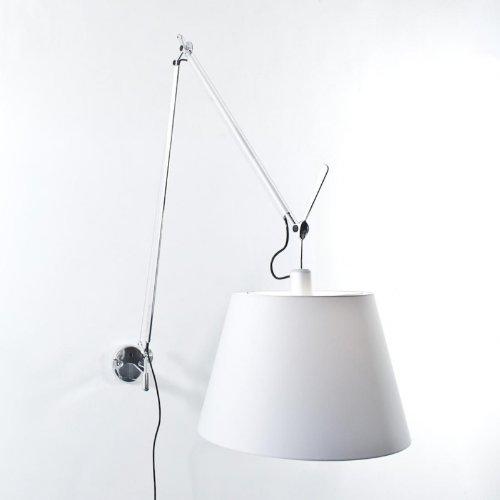 Artemide Tolomeo Mega Parete lamp, satijn, aluminium, lampenkap satijn, diameter 42 cm