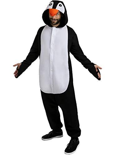 Funidelia | Disfraz de pingüino Onesie para Hombre y Mujer Talla XL ▶ Animales, Polo Sur - Multicolor