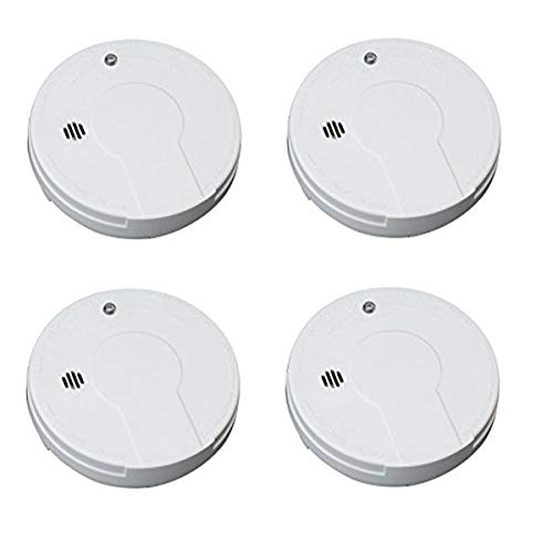 Kidde i9050 Battery Operated Smoke Alarm, White (4 Smoke Alarms)