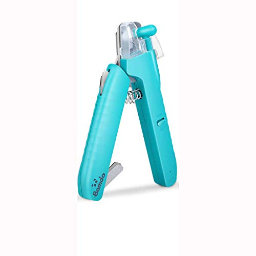 Bamda Hunde-Nagelknipser, LED, USB wiederaufladbar, Haustier-Nagelknipser, Fußnagelknipser, professionelle Haustier-Nagelklaue Schere für Hunde, Katzen, große und kleine Rassen