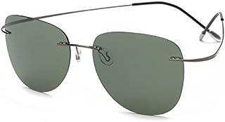 14d168793b TL-Sunglasses Silueta de Titanio 100% Gafas de Sol Polaroid sin Reborde Super  Ligero