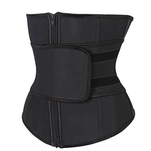 FENTINAYA Ceinture Abdominale Compression Haute Zipper Latex Taille Cincher Corset sous-Buste Corps Fajas Sweat Waist Trainer
