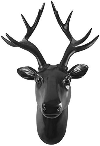 aipipl Adornos Esculturas Esculturas Adornos Estatuilla Figuras coleccionables Animal Europeo Cabeza de Ciervo Decoracin de la Estatua del hogar Mural de Sala de Estar Creativo Fondo de Pared para