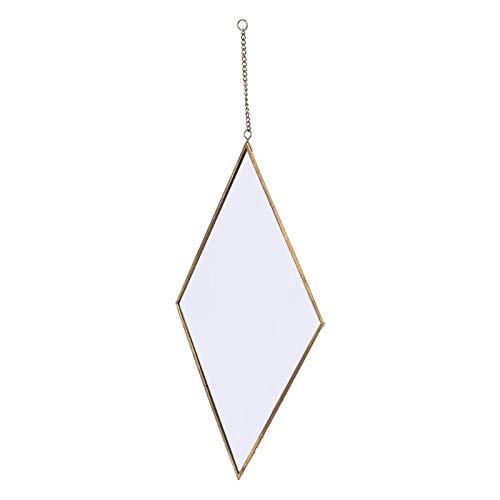 Espejo De Pared Rombo Dorado Tocador Espejo De Maquillaje Baño Dormitorio Art Deco Regalo-Segundo