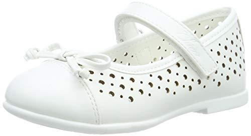 Chicco Bebe Cleliana, Ballerine con Cinturino alla Caviglia Bambine e Ragazze, Bianco (Bianco/300 300), 24 EU