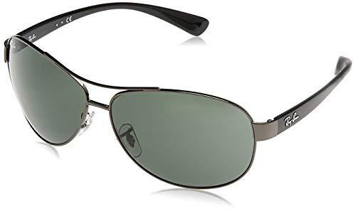 Ray-Ban unisex adult Rb3386 Sunglasses, Gunmetal/Green, 67 mm US