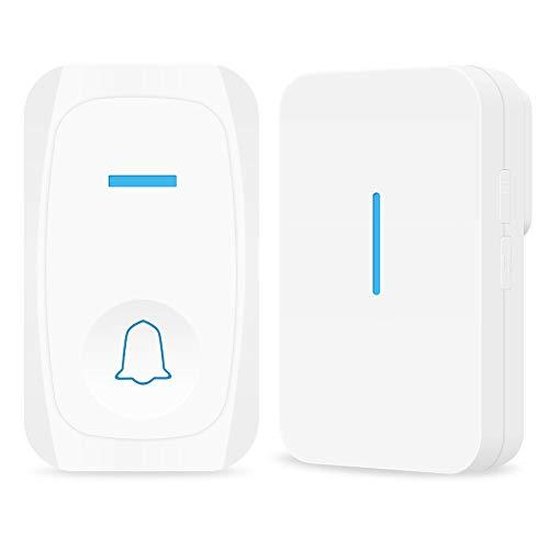 【送信機1受信機1】 ワイヤレスチャイム 呼び鈴 介護 玄関チャイム 飲食店 浴室などに適用 防水 防塵 高温に堪える 、最高200M無線範囲 [配線不要]ドアベル 32曲選択可能 3段階音量調節 電池式