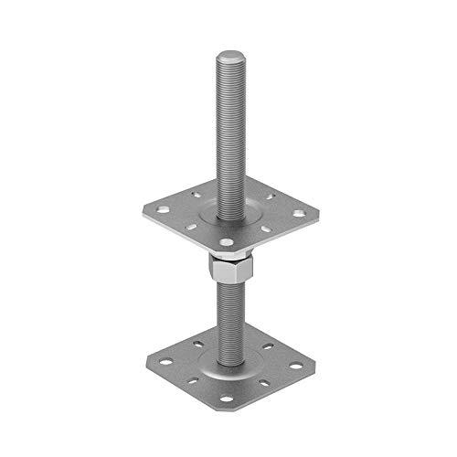 GRUNDLINE - Stützenfuß Pfostenträger, höhenverstelbar zum Aufschrauben - PSR M20 - M20 80x249