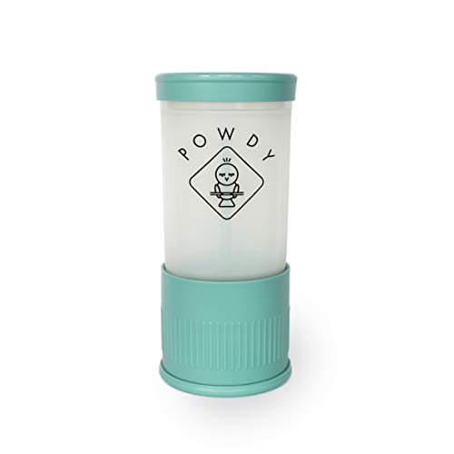 POWDY - Milchpulver-Portionierer - Mit einem Klick die richtige Portion - 1 Klick = 1 Messlöffel - Sauberes und schnelles Einfüllen direkt in die Flasche … (Türkis)