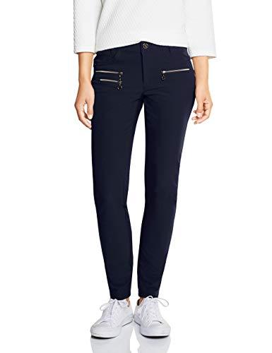 Street One Damen 372555 York Slim Fit Hose, Blau (deep Blue 11238), W46/L30(Herstellergröße:46)