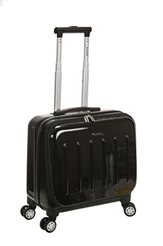 Rockland Revolution Hardside Rolling Computer Case, Black, Carry-On 17-Inch