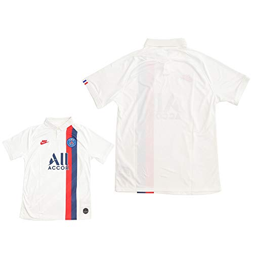 Nike PSG Breathe Stadium 3rd Maillot Maillot d'équipe Homme White/University Red FR : M (Taille Fabricant : M)