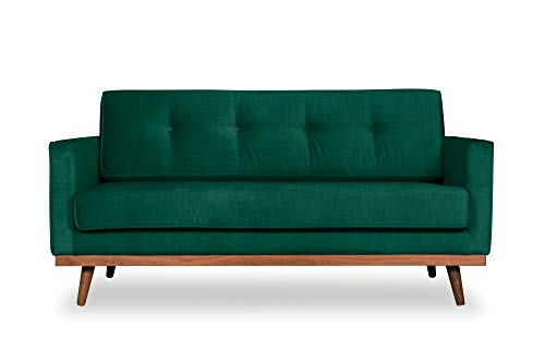 Scandicsofa Zweisitzer-Sofa Klematisar im skandinavischen Stil | B/H/T 155x85x91 cm | 4 Farbvarianten | Buchenholz