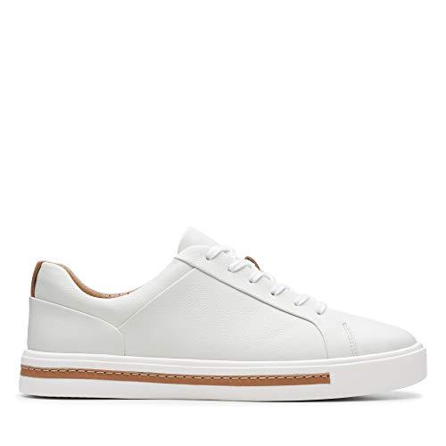 Clarks Un Maui Lace, Zapatos de Cordones Derby para Mujer, Blanco (White Leather-), 39 EU