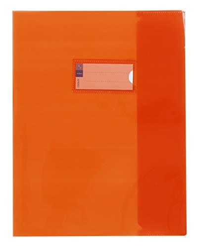 Viquel - Custodia per quaderno, 17 x 22 cm, trasparente, arancione