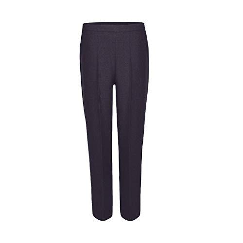 MISS 'N' MAM - Pantalones de oficina para mujer con pierna recta y media elástica, bolsillos para trabajo, tallas 14-24