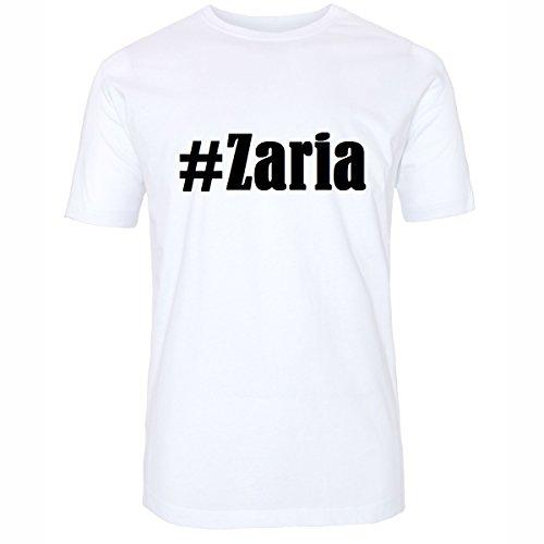 Camiseta #Zaria Hashtag para Mujer y Hombre en Blanco y Negro